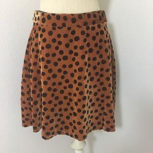 Medwell Velvet polkadot skirt size medium